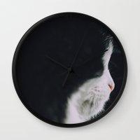 Portrait of a Cat Wall Clock