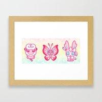 PINKIE POKES Framed Art Print