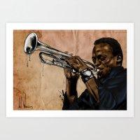 Miles, Jazz Will Never B… Art Print