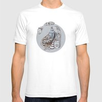 Santorini Mens Fitted Tee White SMALL