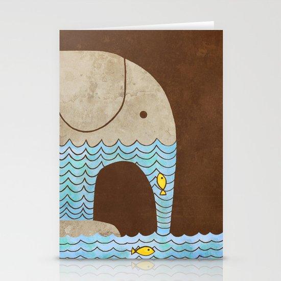 Thirsty Elephant  Stationery Card