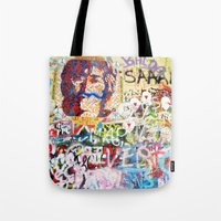 Peace on Earth - Love - Because the World is Round it Turns me On Tote Bag