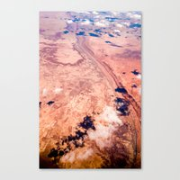On Sky Seeing The Desert Canvas Print