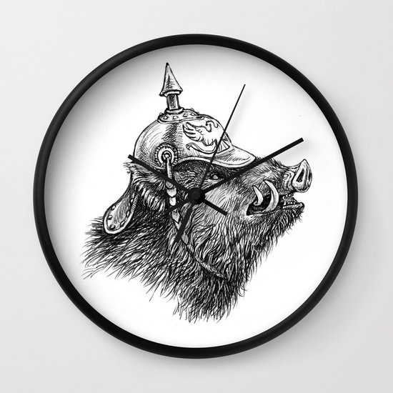War Pig Wall Clock