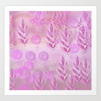 pink music Art Print