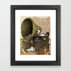 Good Friends Are Hairy Framed Art Print