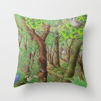 A Day Of Forest (2). (su… Throw Pillow