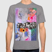 Retrofuture Mens Fitted Tee Tri-Grey SMALL