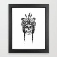 Dead Shaman (b&w) Framed Art Print