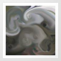 Mushroom Madness Abstrac… Art Print
