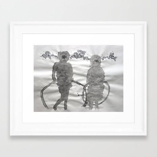 hula hoop Framed Art Print