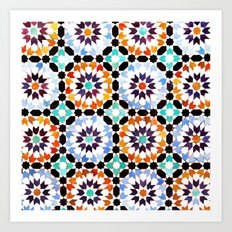 Oriental pattern Art Print