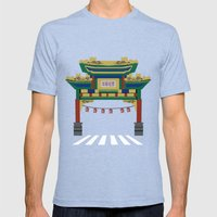 Chinatown  Mens Fitted Tee Tri-Blue SMALL