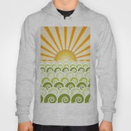 Along The Waves Green Hoody