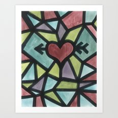 Stained Love Art Print