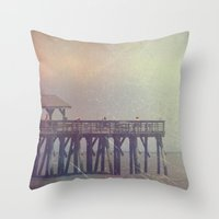 The Warm Winds Of Summer's Wreckage Throw Pillow