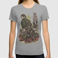 The Last of Us Artwork Womens Fitted Tee Tri-Grey SMALL