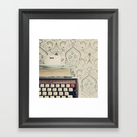 Type And Coffee Framed Art Print