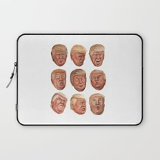 Faces Of Donald Trump Laptop Sleeve