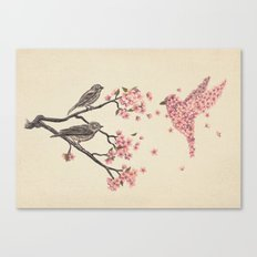 Blossom Bird  Canvas Print