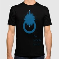 THE BUBBLE BURST Mens Fitted Tee Black SMALL