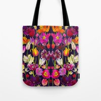 Pink and Orange Tulips Tote Bag
