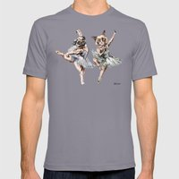 Hipster Ballerinas - Dog Cat Dancers Mens Fitted Tee Slate SMALL