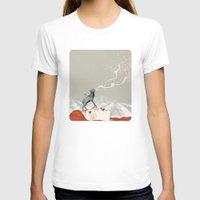 deer T-shirts featuring Deer Lady! by Sandra Dieckmann