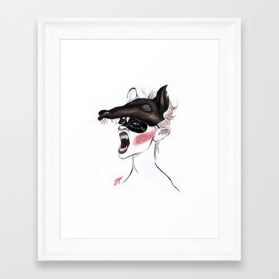 The Masquerade: The Wolf Framed Art Print