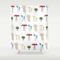 Mushroom Pattern  Shower Curtain