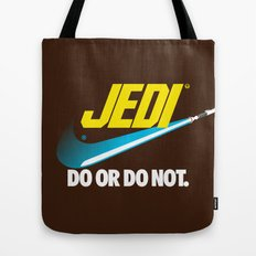 Brand Wars: Jedi - blue lightsaber Tote Bag