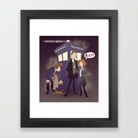 x- files - the man in a box Framed Art Print