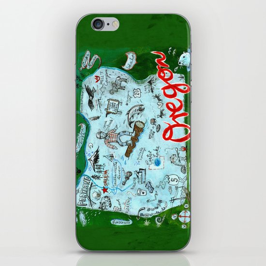 Map of Oregon iPhone & iPod Skin