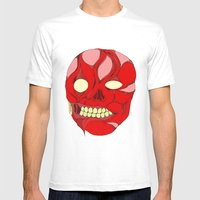 Naked Face Mens Fitted Tee White SMALL