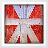'BARN GRID' Art Print