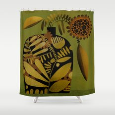 PATTERNED VASE Shower Curtain