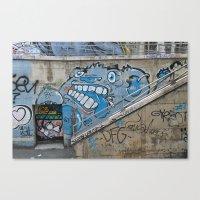 Grey Bear Graffiti Canvas Print