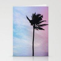 Single Palm Stationery Cards
