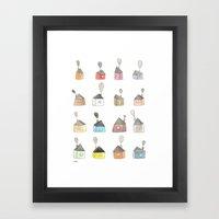 Les Petites Maisons Doui… Framed Art Print