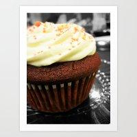 Red Velvet Cupcake Art Print