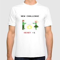 New challenge Mens Fitted Tee White SMALL