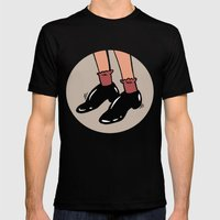 Shiny Shoes Mens Fitted Tee Black SMALL