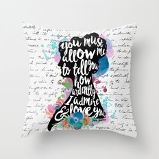 Mr. Darcy - Ardently Admire & Love You Throw Pillow