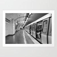 Paris, métro Art Print