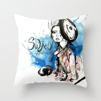 Swan Princess Throw Pillow