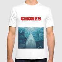 Chores (2015 version) Mens Fitted Tee White SMALL