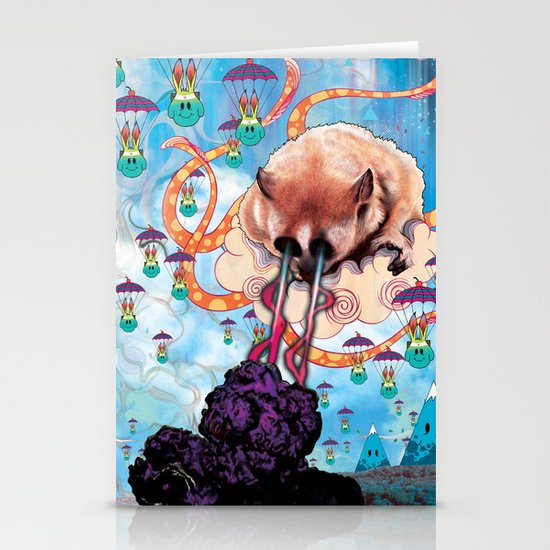 Attack of the Super Furry Animals! Stationery Card