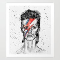 Bowie Inspired David In … Art Print