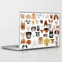 dogs Laptop & iPad Skins featuring Dogs by maureen