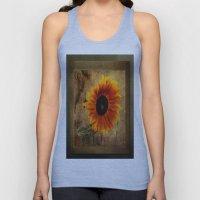 Vintage Sunflower Framed Unisex Tank Top